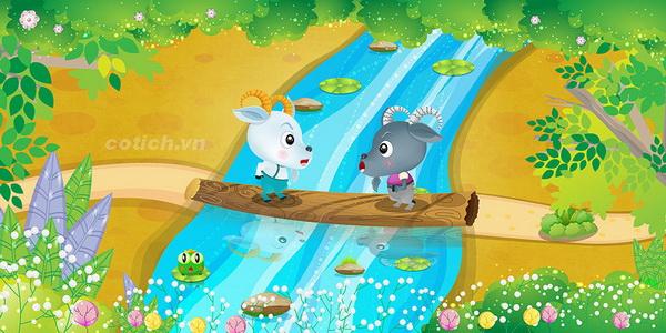 Hai con dê qua cầu - Truyện ngụ ngôn ý nghĩa dành cho bé